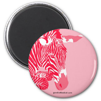Red Zebra Magnet