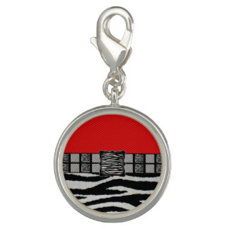 Red Zebra Metal Monogram