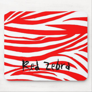 Red Zebra Mouse Mat