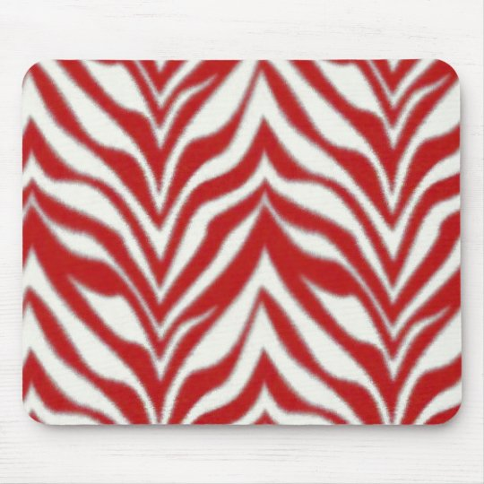 Red Zebra Mousepad