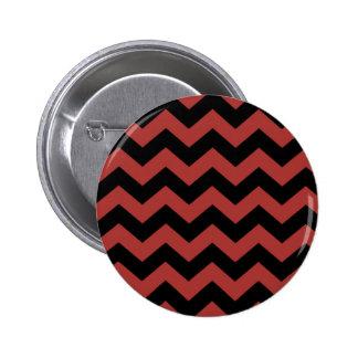 Red Zig Zag Pattern 6 Cm Round Badge