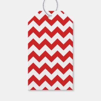 Red Zigzag Stripes Chevron Pattern