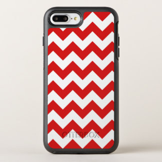 Red Zigzag Stripes Chevron Pattern OtterBox Symmetry iPhone 8 Plus/7 Plus Case