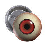 Red Zombie Eye-ball Badge