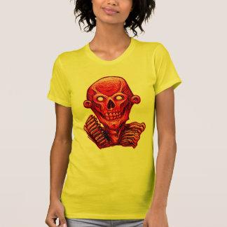 Red Zombie Skull Head Shirt