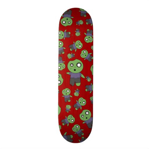 Red zombies skate board decks