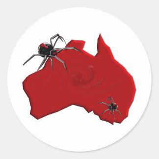 Redback Spider Australia Round Sticker
