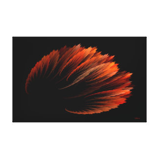 Redbird Blossom Digital Art by Rybird Stretched Canvas Print
