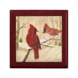 Redbirds Small Square Gift Box