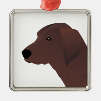 Redbone Coonhound Basic Breed Customizable Design Silver-Colored Square Decoration