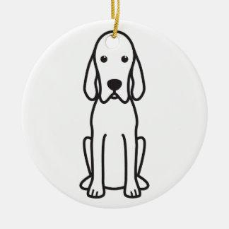 Redbone Coonhound Dog Cartoon Christmas Ornament