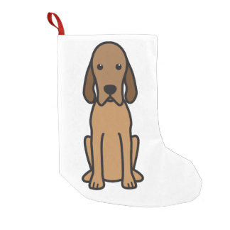 Redbone Coonhound Dog Cartoon Small Christmas Stocking