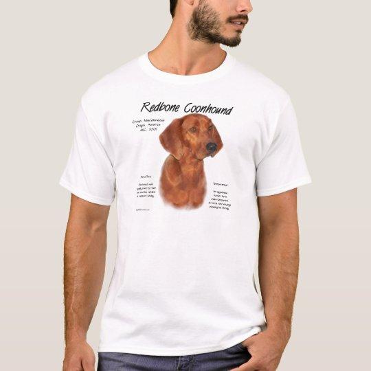 Redbone Coonhound History Design T-Shirt