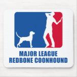 Redbone Coonhound Mousepads