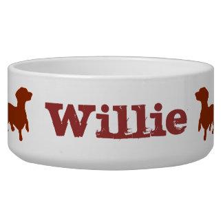 Redbone Dachshund Love Dog Food Bowl -