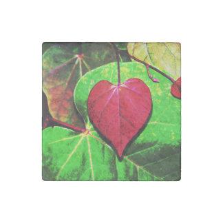Redbud Heart Leaf Stone Magnet