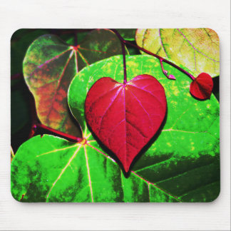 Redbud Heart Leaf Mouse Pad