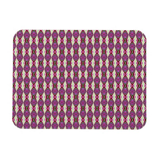 Redbud Pattern Rectangle Magnets