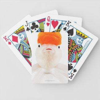 Redcap lionhead goldfish (Carassius auratus) Poker Deck