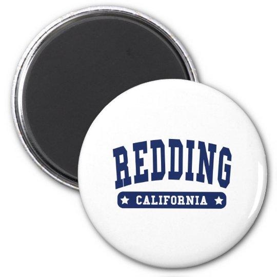 Redding California College Style tee shirts 6 Cm Round Magnet