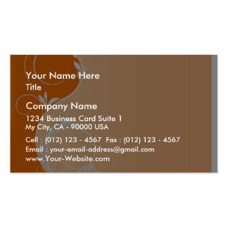 Reddish and Orange Floral Peach Business Card Templates