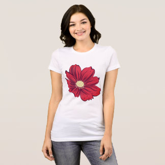 Reddish Blooming Flower T-Shirt