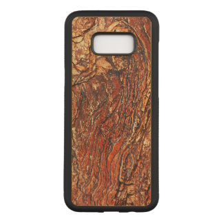 Reddish Brown Rock Texture Carved Samsung Galaxy S8+ Case
