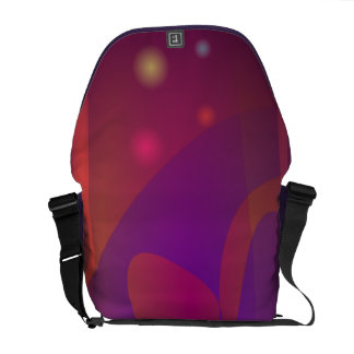 Reddish-Brown Simple Abstract Art Courier Bags
