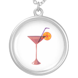 reddish drink blue straw orange graphic.png round pendant necklace