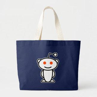 Reddit Alien Large Tote Bag