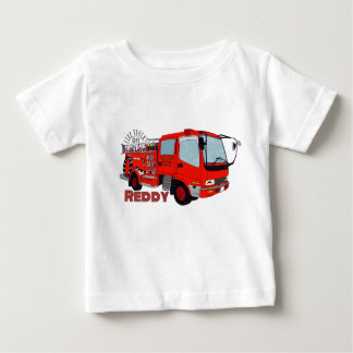 Reddy construction vehicle fire truck engine fire baby T-Shirt