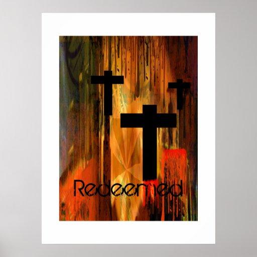 Redeemed Cross Poster