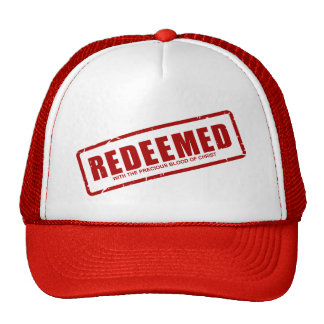 Redeemed With The Precious Blood of Christ Cap