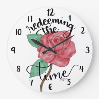 Redeeming The Time Hand Lettered Wall Clock