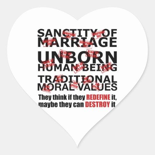 Redefine it Destroy it Heart Sticker