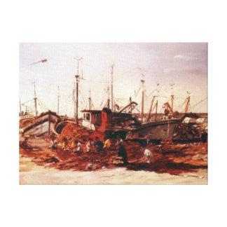 Rederos/Redeiros/Net menders Gallery Wrap Canvas