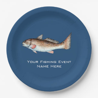 Redfish Fishing Event Paper Plate