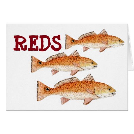 Redfish Greetings Card