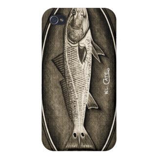 Redfish Vintage Black & White iPhone 4 Case