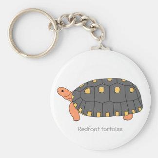 Redfoot Tortoise Keychain