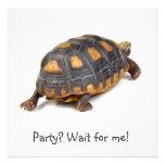 Redfoot Tortoise Walking Personalized Invitation