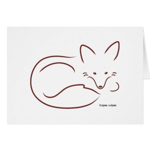 RedFox - Customised Greeting Card