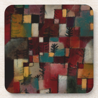 Redgreen and Violet-yellow Rhythms by Paul Klee Coaster