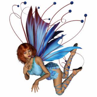 Redhead 3D Pixie - Purple & Blue Standing Photo Sculpture