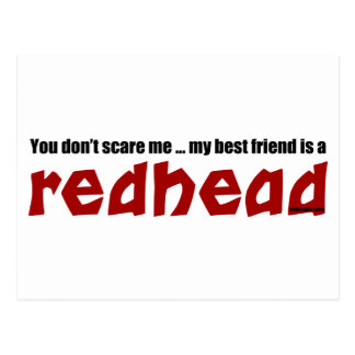 Redhead Best Friend Postcard