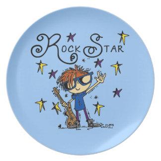 Redhead Boy Rock Star Plate