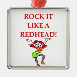 redhead christmas ornament