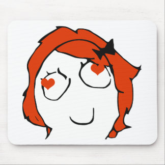 Redhead Derpina Valentine - In Love Mouse Pad