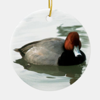 Redhead Duck Christmas Ornament