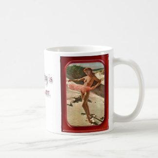 Redhead - Framed vintage photos of nude w/quote Coffee Mug
